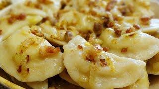 Вареники с картошкои луком и салом Вкусный рецепт вареников