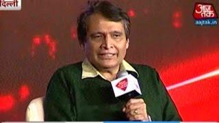 AGENDA AAJ TAK: Railway Minister Suresh Prabhu