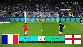 FRANCE vs ENGLAND | Penalty Shootout | PES 2018 Gameplay PC