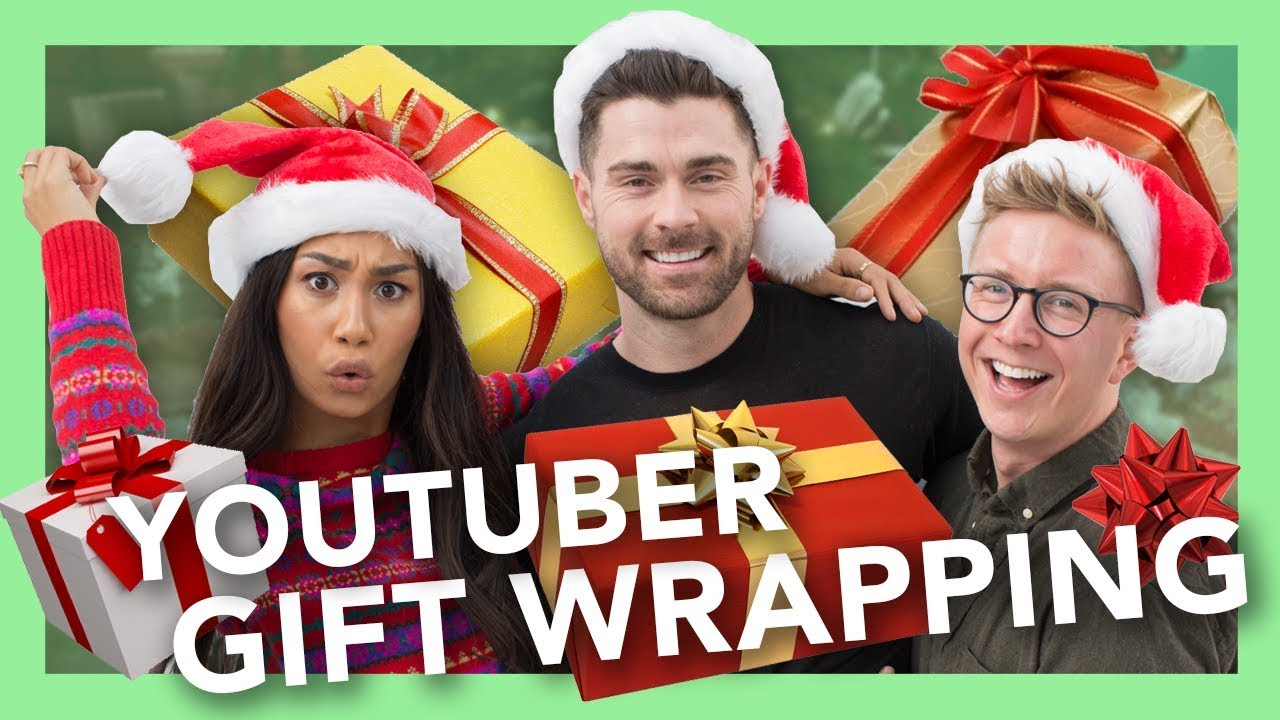 YouTuber Holiday Gift Wrapping ft Eva Gutowski Kyle Krieger