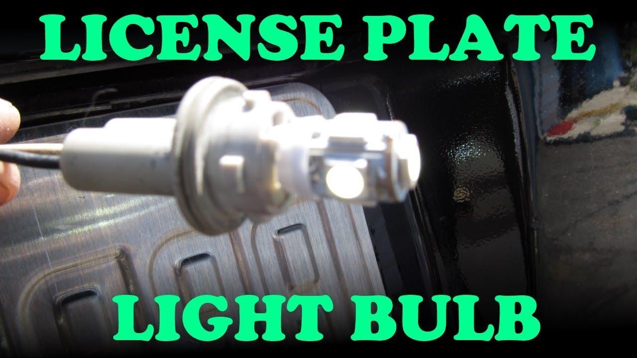 Toyota License Plate Light Change