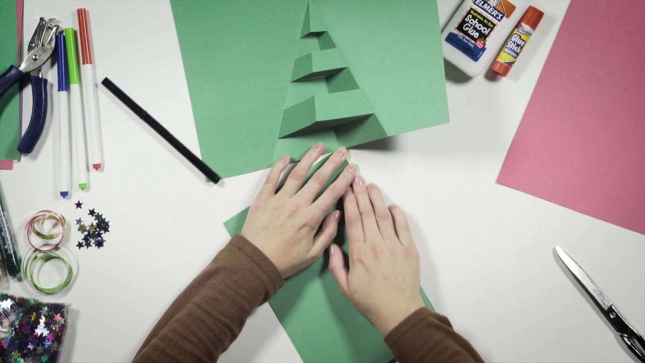 Make your own pop-up Christmas card: Christmas tree - YouTube