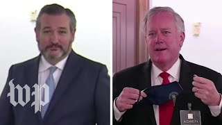 Sen. Cruz, Meadows refuse to wear mask for reporters