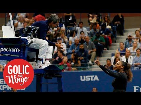 Chair umpires considering boycotting Serena Williams' matches | Golic & Wingo | ESPN