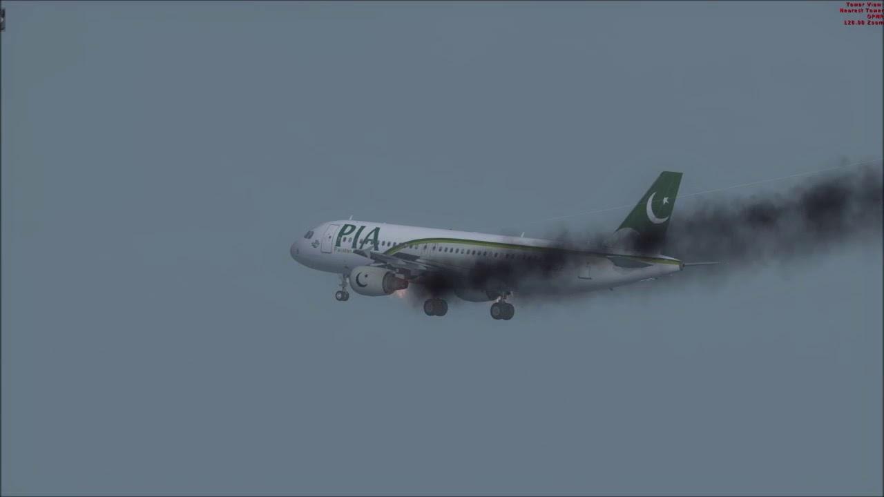 Plane Crash Karachi ++ PIA A320