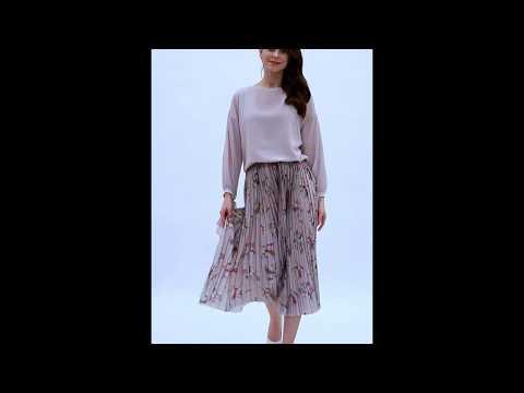 Video: Stylowa sukienka z plisowanym dołem