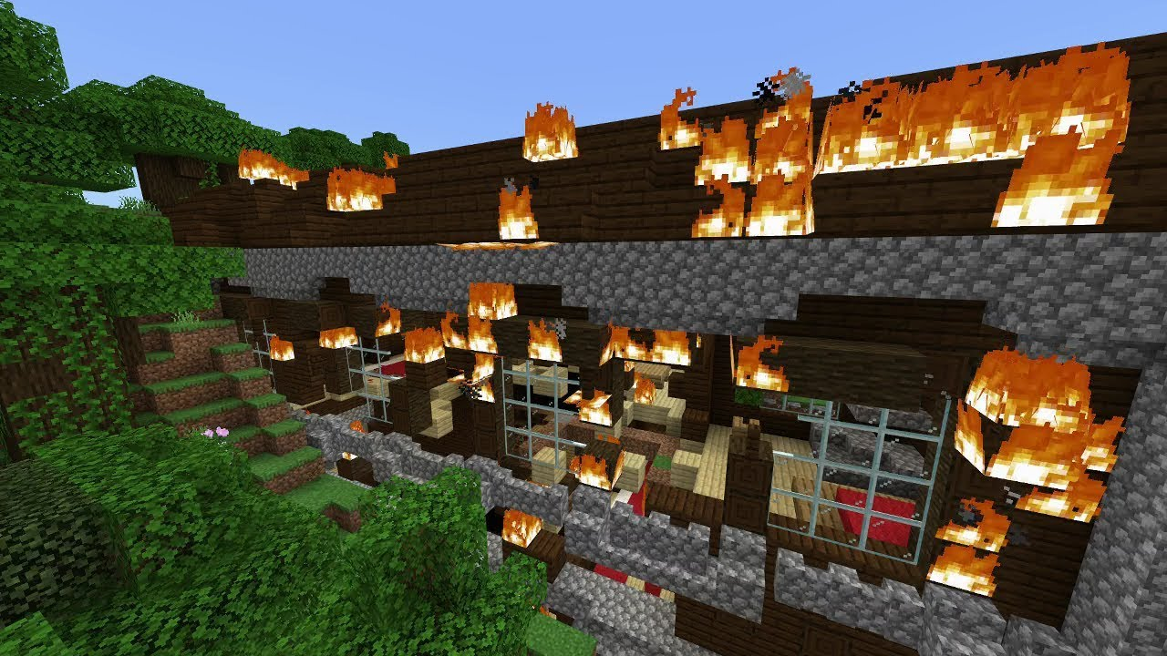 This Minecraft Woodland Mansion Seed Is On Fire Youtube