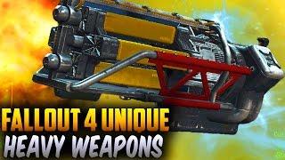Fallout 4 Rare Weapons - TOP 7 Secret & Unique Heavy Weapons!