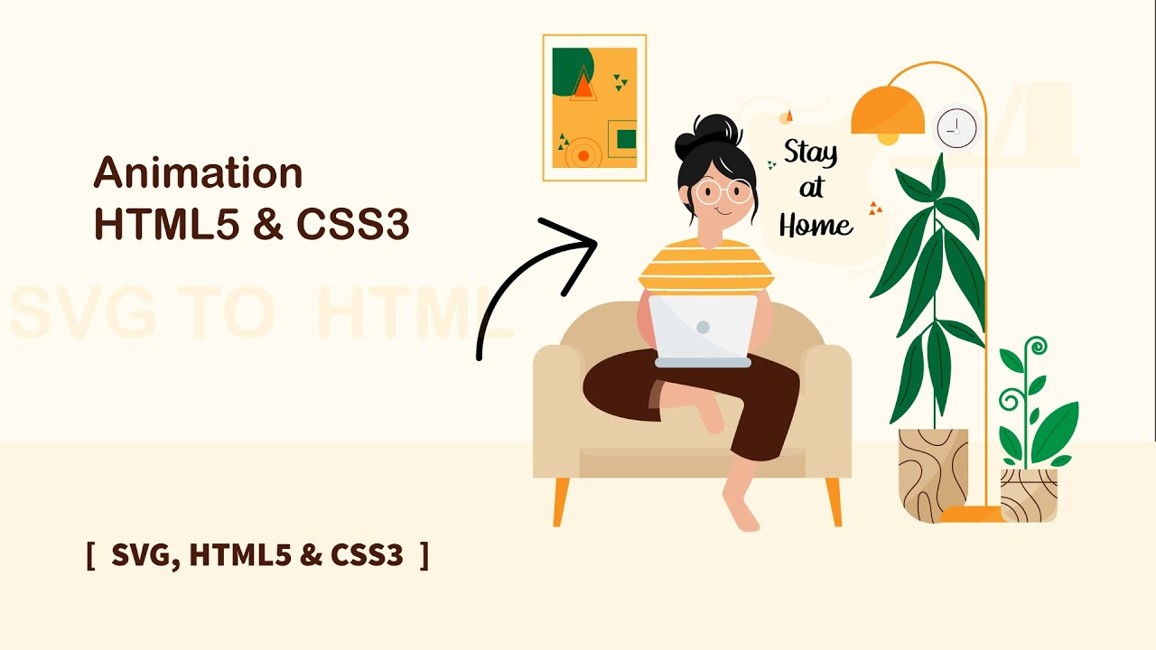Stay at Home Animation in HTML CSS - Covid-19 | SVG to HTML CSS |
