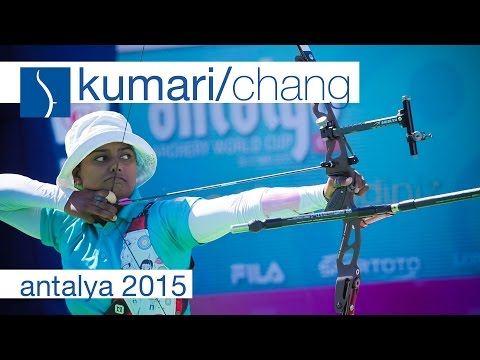 Kumari v Chang – Recurve Women's Bronze Final | Antalya 2015