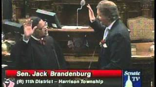 Sen. Jack Brandenburg, R-Harrison Township, is sworn in