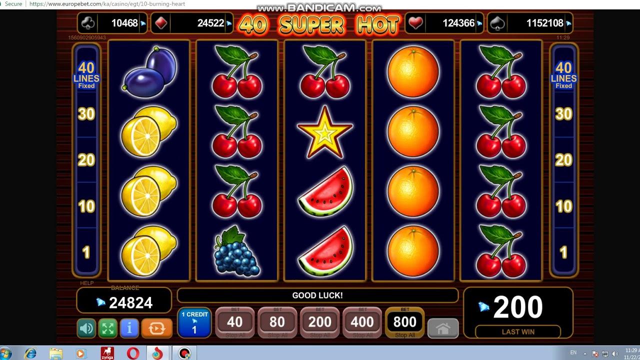 Play free egt slots video poker