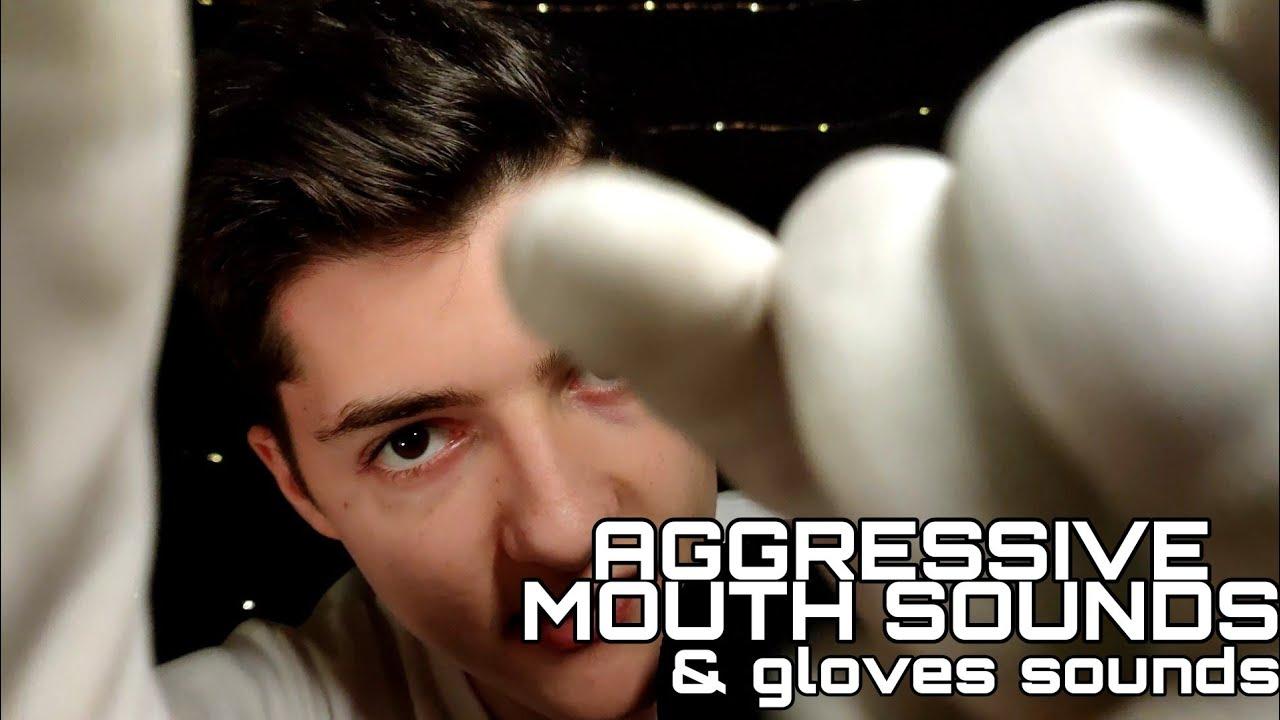 ASMR| Intense mouth sounds & gloves SOUNDS