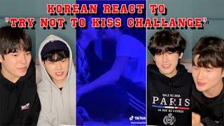 "KOREAN REACT TO ""Try Not To Kiss Challenge"" TikTok compilation"