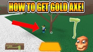 HOW TO GET GOLD AXE! (NEW METHOD!) [NOT PATCHED!] LUMBER TYCOON 2 ROBLOX