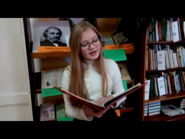 Изображение предпросмотра прочтения – АнгелинаМашарова читает произведение «Му-Му» И.С.Тургенева
