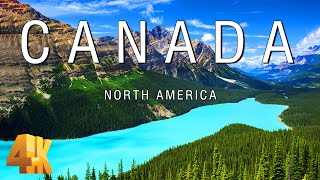 FLYING OVER CANADA (4K UHD)  Relaxing Music & Amazing Beautiful Nature Scenery For Stress Relief