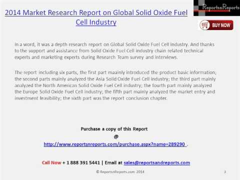 Analysis for Solid Oxide Fuel Cell Market 2014