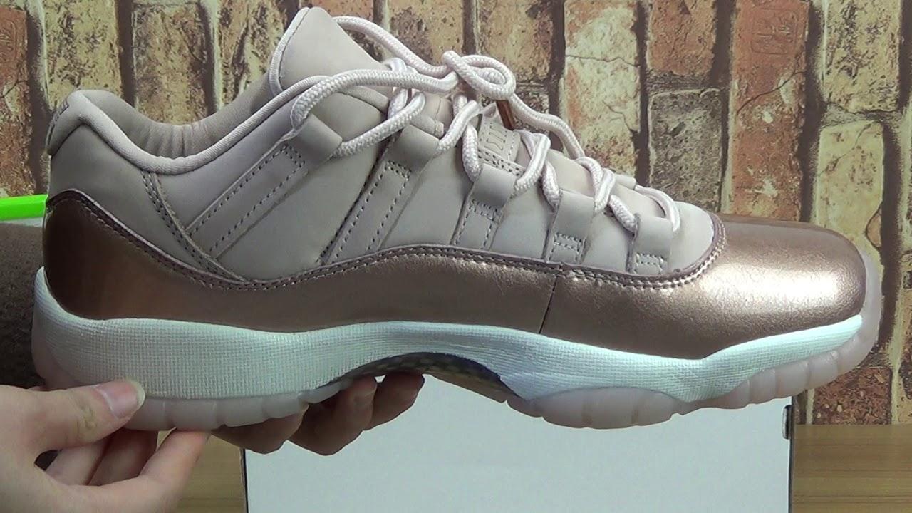 "sports shoes 2fbf1 23675 Authentic Air Jordan 11 Low GS ""Rose Gold"""