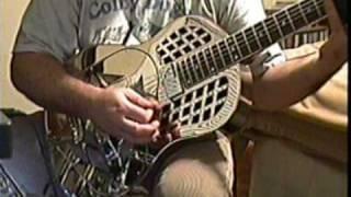 Republic Tricone Resonator open D tuning slide guitar Amazing Grace