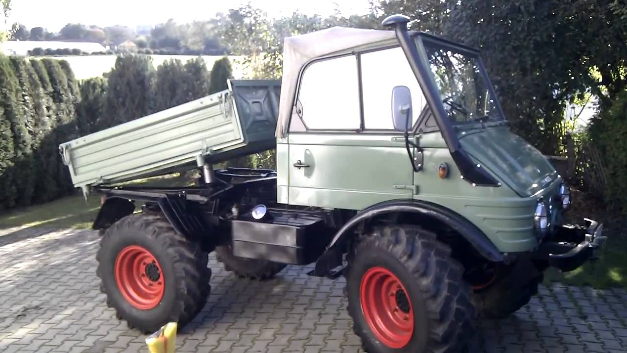 unimog 421 beim kippen youtube