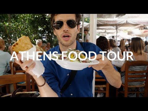 ATHENS FOOD TOUR - The Best Pita in Athens, The Best Ice Cream & More!