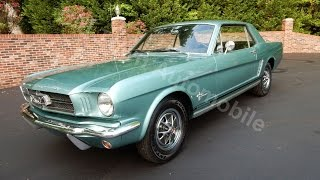 1965 Ford Mustang Coupe, aqua, for sale Old Town Automobile in Maryland
