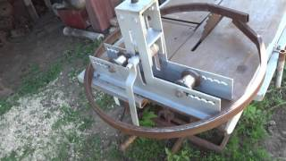 Трубогиб самодельный. Homemade Roller Bender
