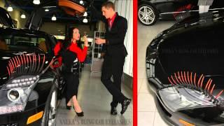 Red Tip Car Eyelashes Promo - nnekas.com Exclusive Designs - Mercedes Benz SLS AMG 2012