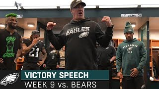 """We're Gonna Keep This Train Moving"" Week 9 Victory Speech | Philadelphia Eagles"