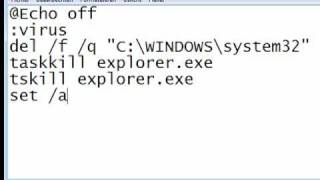 How To Make A Real Virus Using Notepad