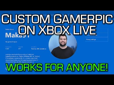 CUSTOM GAMERPIC on Xbox Live (Works for Everyone) Tutorial! & a New Party Chat Overlay Feature