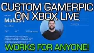 custom gamerpic on xbox one works for everyone tutorial new xbox live party chat overlay feature