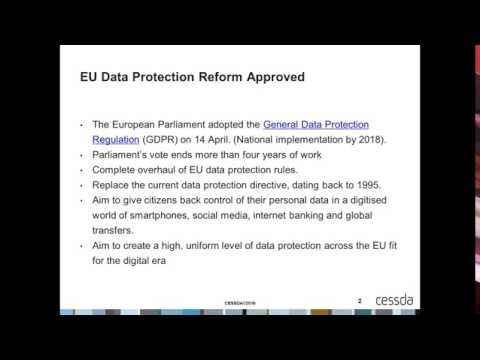 SC6 Hangout: The new EU General Data Protection Regulation