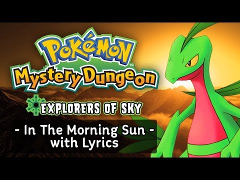 Pokemon Mystery Dungeon: Explorers of Sky - In The Morning Sun with Lyrics (ft. Thalins) | Fiddledo