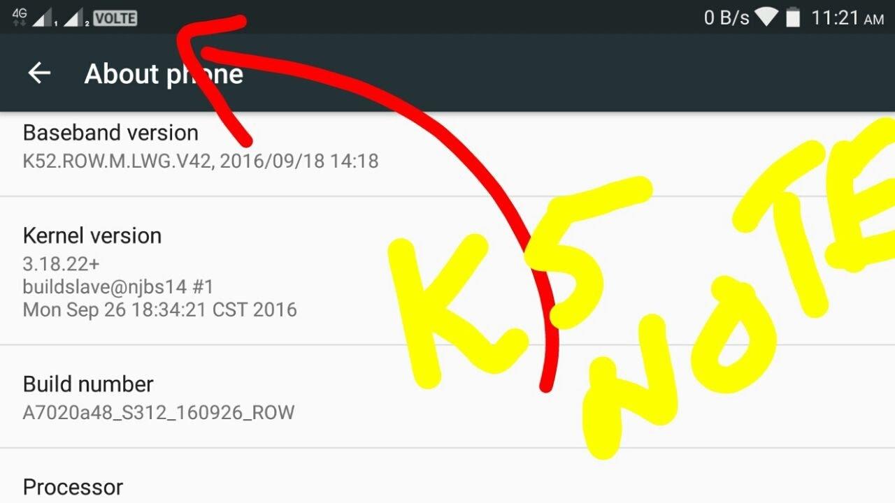 Jio APN settings for Lenovo K5 - Jio APN Settings