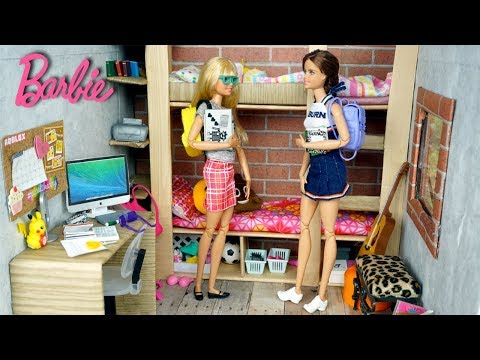 Barbie Cheerleader School  Dorm Room Morning Routine - Titi Toys