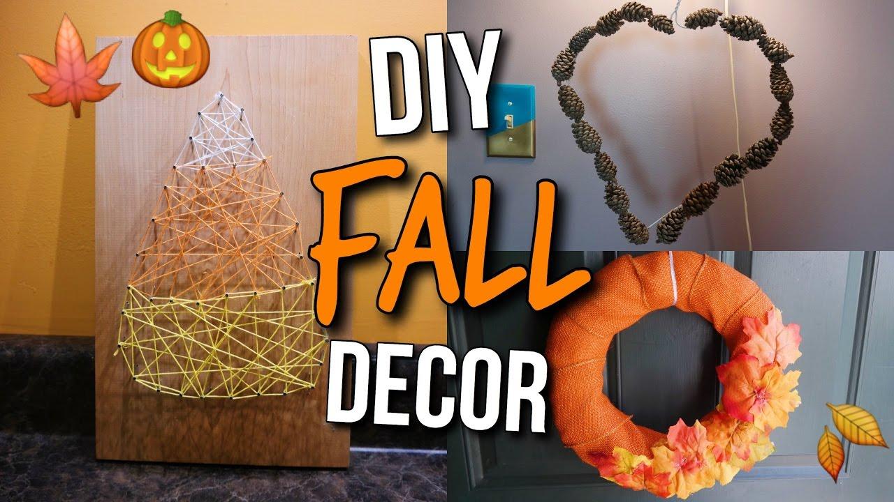 Diy Fall Halloween Room Decor Cute Easy Autumn Decorations Youtube