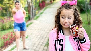 Regras de conduta para criança com Valentina taвалентина и правила поведения для детей