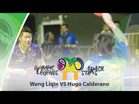 Olympic Legends vs Brazil Stars Hugo Calderano (BRA) vs Wang Liqin (CHN)