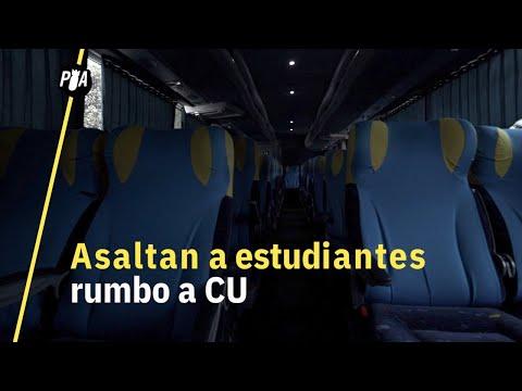 Asalto a autobús de la UNAM