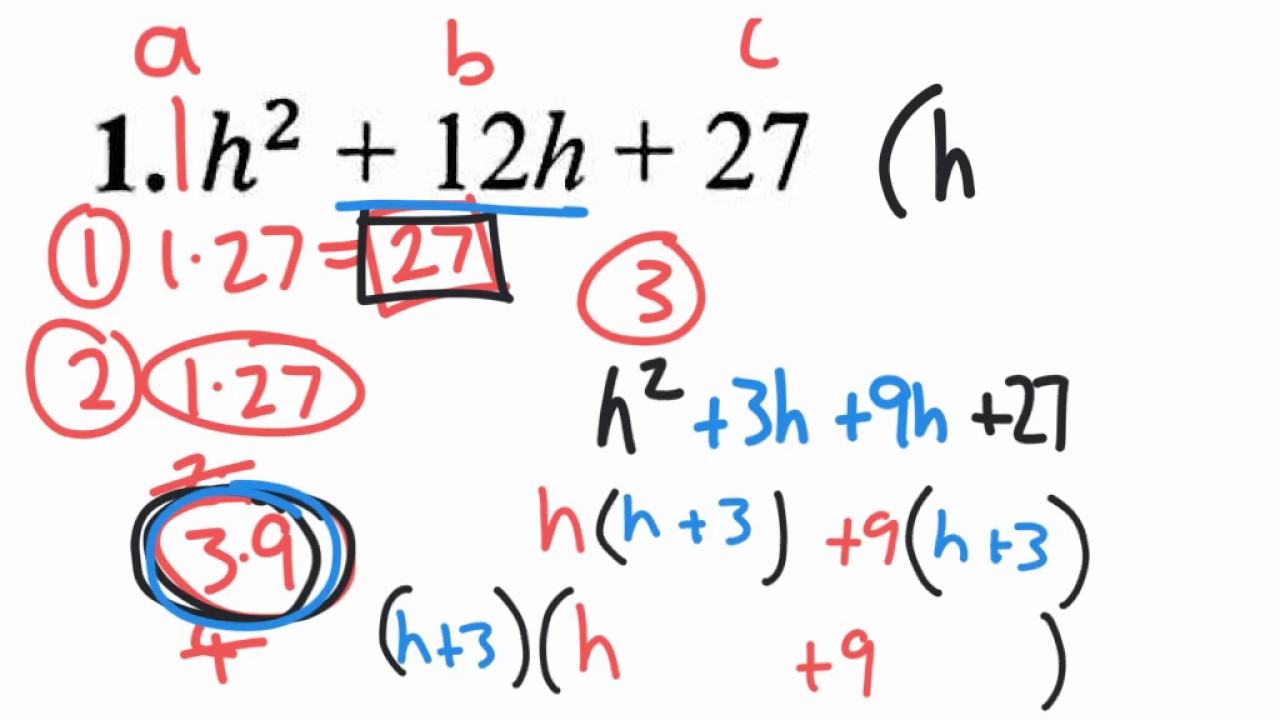 Factoring standard form quadratic trinom v1 youtube factoring standard form quadratic trinom v1 falaconquin