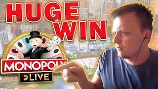 HUGE WIN ON MONOPOLY LIVE *FINALLY*!!