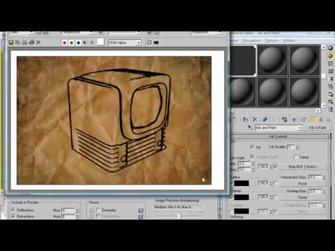 Monday Movie #35: 3dsMax Ink & Paint Sketch Tutorial