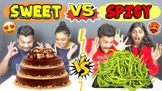 SWEET VS SPICY FOOD CHALLENGE | SWEET VS SPICY FOOD COMPETITION | SPICY FOOD CHALLENGE (Ep-198)