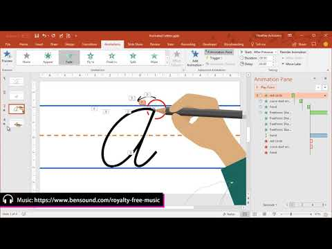 Animated Cursive Letters Made In PowerPoint