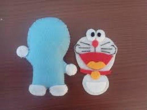 Cara Membuat Boneka Doraemon Dari Kain Flanel Youtube