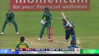 South Africa vs Sri Lanka - 5th ODI - SL Innings Highlights