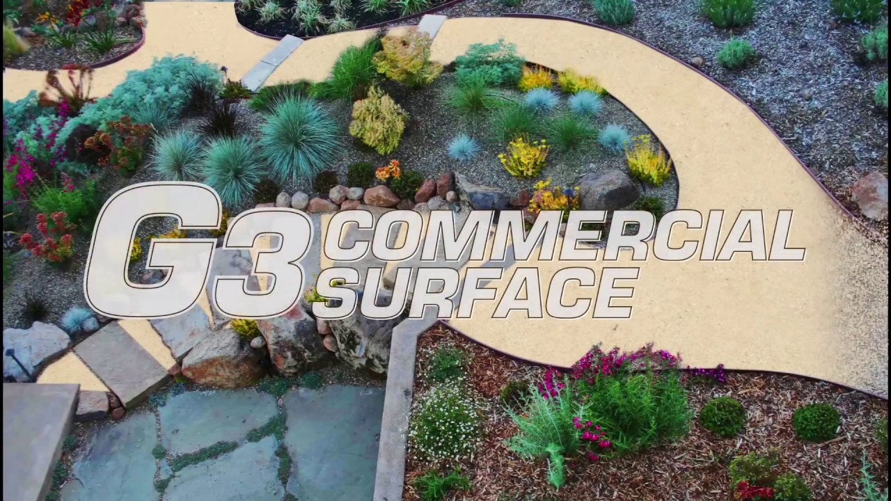 G3   Commercial Surface Product Demo | Residential Backyard Patio U0026  Stabilized Ground Cover