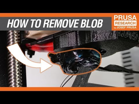 How to remove a stuck blob of extruded filament